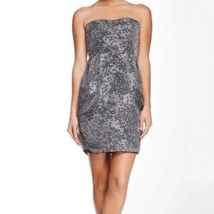 Adrianna Papell Strapless Printed Cocktail Dress